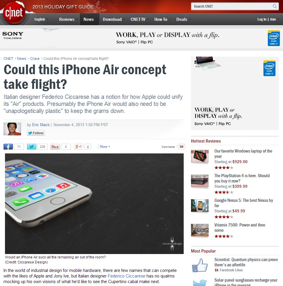 iPhone Air and CNet